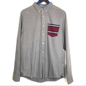Nordstrom 1901 Long Sleeve Button Up Shirt Large